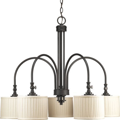 Progress Lighting P4422-84 5-Light Clayton Chandelier, Espresso by Progress Lighting - Espresso Five Light Chandelier