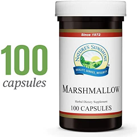Nature's Sunshine Marshmallow, 100 Capsules, Kosher | Marshmallow Root Naturally Provides Demulcent Effects on The Digestive and Respiratory Systems