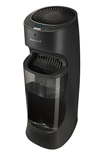 Honeywell Top Fill Tower Humidifier with Digital Humidistat, Black HEV620B