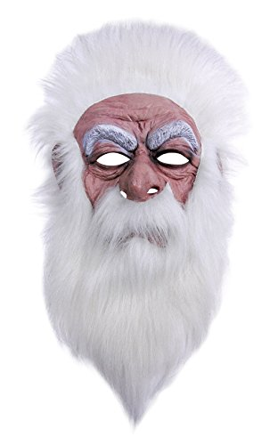 Retail Zone Wizard Mask Beard Plush Wig Santa Clause Fancy Dress Father (Santa Clause Dress)