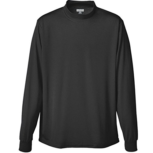 Augusta Activewear Wicking Mock Turtleneck-Youth, Black, Small - Youth White Mock Turtleneck