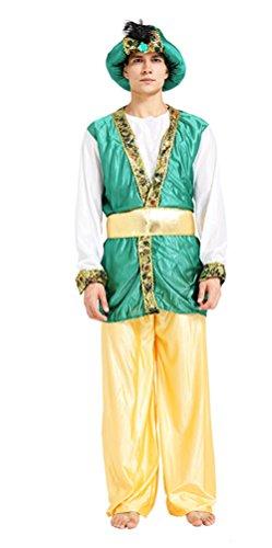Fancy Dress Costumes Dubai (Riekinc Adult Arabia Costume Middle East Dubai Cosplay Costume Different Style)