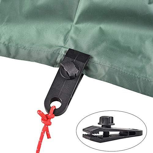 JUHONNZ Pince pour Bache,8 PCS Pince de Fixation pour Tente Nylon Clips de D/âche Plastique Pince Coupe-Vent pour Tenir Tentes B/âche Auvent Pare-Soleil Couverture de Piscine Noir