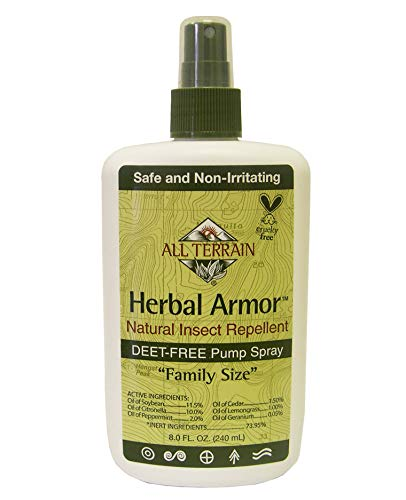Biodegradable Insect Repellent - All Terrain Herbal Armor DEET-Free Natural Insect Repellent Spray (8 Ounce)