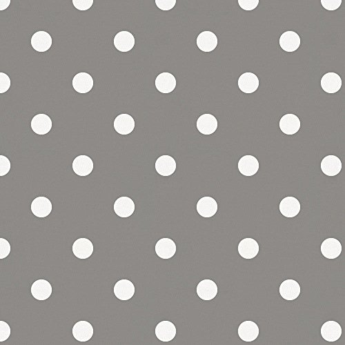 Carousel Designs Gray and White Polka Dot Fabric by The Yard - Organic 100% Cotton