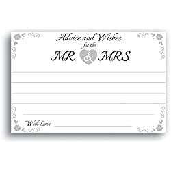 Home Advantage - 4x6 Advice and Wishes for The Mr. & Mrs. Cards