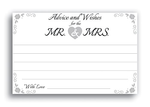 - Home Advantage - 4x6 Advice and Wishes for The Mr. & Mrs. Cards