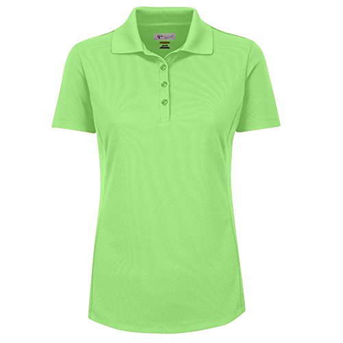 Greg Norman Womens Essentials Protek Polo Light Green - Norman Women