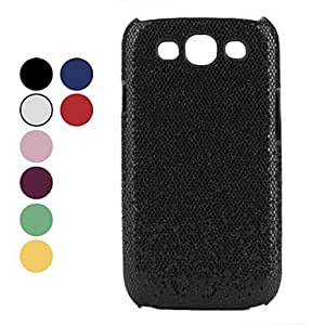 MOM ships in 48 hours Shimmering Powder Style Hard Case for Samsung Galaxy S3 I9300 (Assorted Colors) , Red