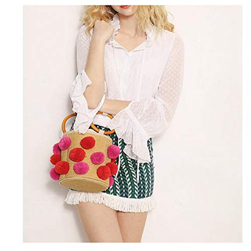 Beach Olprkgdg 4 3 fatta colore paglia Summer a di mano Borsa Woman 7q7BUY