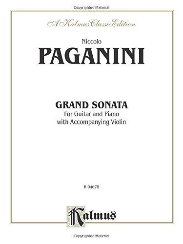 Grand Sonata: For Guitar and Piano with Accompanying Violin (Kalmus (Grand Sonata)