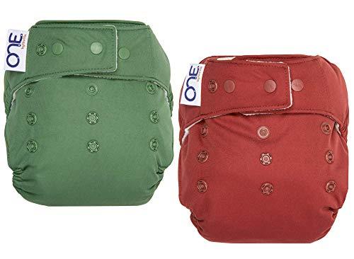 GroVia O.N.E. Reusable Baby Cloth Diaper - 2 Pack (Color Mix 12)