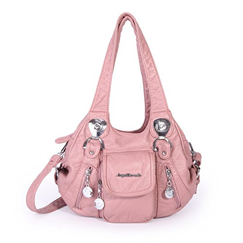 Angel Barcelo HandBags Soft Lether Mini Size (Pink) by Angel Barcelo