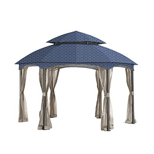 (Garden Winds Replacement Canopy for The Heritage Dome Gazebo - Standard 350 - Midnight Trellis)