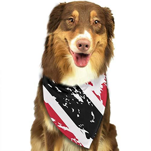 Dog Bandana Dirty Trinidad and Tobago Flag Triangle Bibs Scarf Printing Kerchief Set Accessories Dogs Cats Pets -