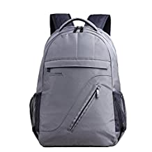 Kingsons Shockproof Nylon Laptop Backpack Fits up to15.6 inch PC Business School Daypack 30L(Gray, one side air bag)