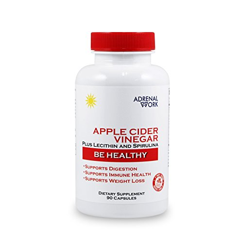 Organic Apple Cider Vinegar Capsules: ACV Diet Pills for Weight Loss, Metabolism Booster, Gut Health, Bloating Relief and Appetite Suppressant - Natural Supplements for Men and Women - 90 Tablets