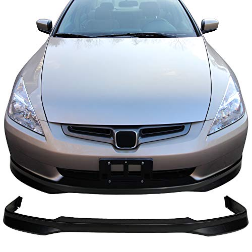 Front Bumper Lip Fits 2003-2005 Honda Accord Sedan | 4DR Front Bumper Lip Spoiler Splitter Bodykit Black Valance Chin Lip By IKON MOTORSPORTS