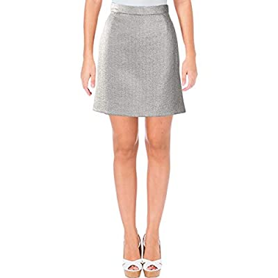 Carven Womens Metallic Above Knee A-Line Skirt