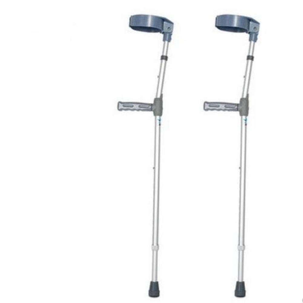JINGLI WANGJINLI Elbow Crutches Arm Type Aluminum Alloy Non-Slip Adjustable Medical Care Armpit Single-Handed Double-Turn, A Pair