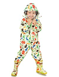 Wellwear Unisex Baby and Kids Rainsuit, Rain Coverall, Outdoors Rain Suit (1-7 Years)