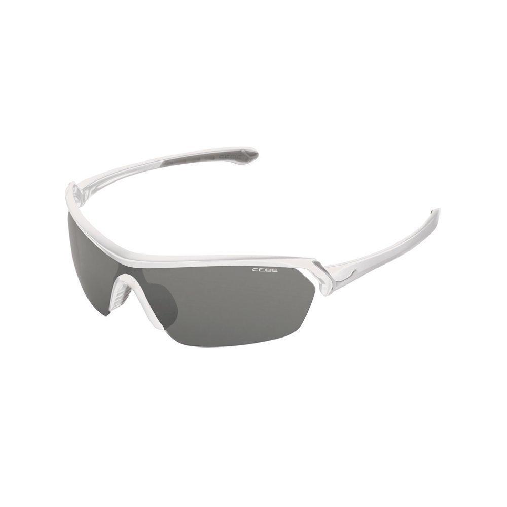 Cebe Eyemax Blanc brillant (monture)-Verres Variochrom Perfo verres Gris
