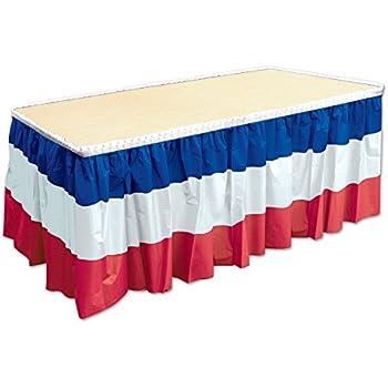 Amazon beistle 52170 rwb patriotic table skirting 29 x 14 beistle 52170 rwb patriotic table skirting 29 x 14 red watchthetrailerfo