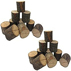Xtay Eeqg Tkgg NO NO Place Wooden Card Holders Table Number Stands for Home Party Decorations. Pack of 20, 20pcs, Wood