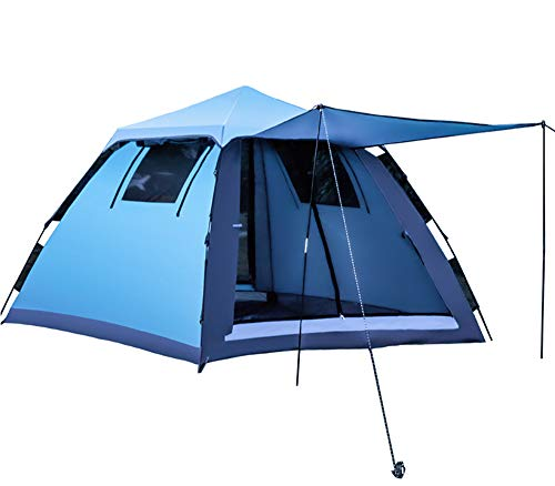 Companion Square Tent - 3-4 Person-Square Instant Tent Camping Canopy for Hiking Travel Beach Vacation Outdoor Sports Gear-Blue