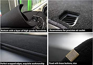 Autotech Park Dashboard Protector Dash Mat Sun Cover Compatible with 2015-2020 Dodge Challenger Reduce Hazardous Windshield Glare