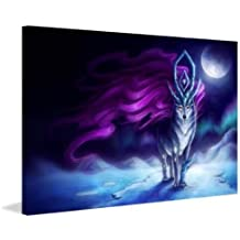 """Marmont Hill Suicune Graphic Art on Wrapped Canvas, 40"""" x 60"""""""