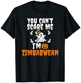 [Featured] Can't Scare Me I'm Zimbabwean Funny Zimbabwe Scary Halloween in ALL styles | Size S - 5XL