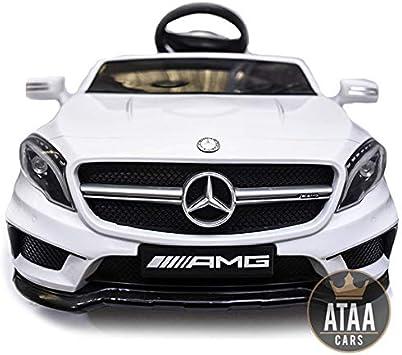 ATAA Mercedes GLA Coche eléctrico para niños batería 12v con Mando Padres teledirigido - Blanco: Amazon.es: Juguetes y juegos