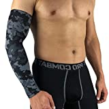 Sports Compression Arm Sleeve - Youth Adult Sizes - Baseball Football Basketball by Sports (1 Arm Sleeve)