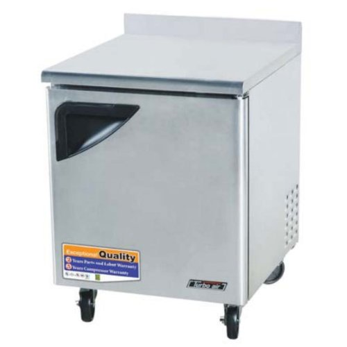 Turbo Air - Super Deluxe 28'' 1 Door Stainless Worktop Freezer