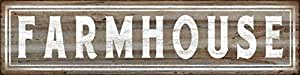 "Barnyard Designs Farmhouse Retro Vintage Tin Bar Sign Country Home Decor 15.75"" x 4"""