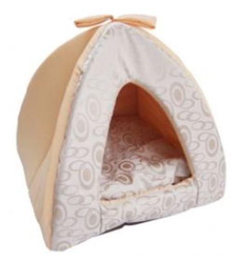 Best Pet Supplies Tent Bed, Medium, Beige Swirl