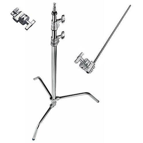 Avenger A2033LKIT Steel 40-Inch Sliding Leg C-Stand with Grip Kit (Chrome) by Avenger