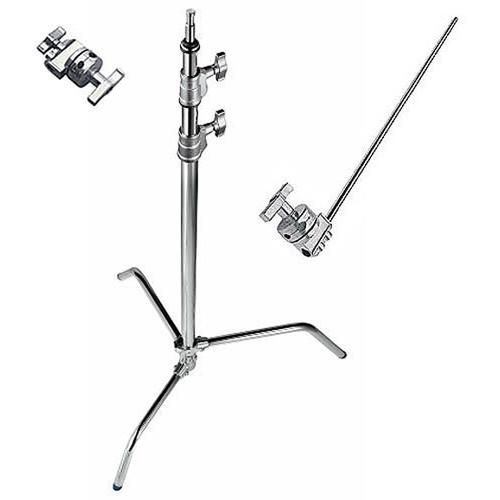 Avenger A2033LKIT Steel 40-Inch Sliding Leg C-Stand with Grip Kit (Chrome)