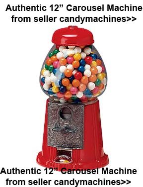 Medium Gumball Carousel Machine