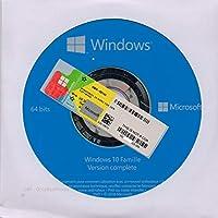 Windows 10 famille DVD + COA Stiker - FRANCE, 1 Poste