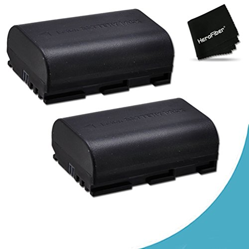 Canon Battery Life (2 Canon LP-E6 Batteries Replacement for Canon XC10, EOS 7D Mark II, EOS 5D, 6D, 7D, 60D, 60Da, 70D EOS 5D Mark II, EOS 5D Mark III DSLR Cameras)