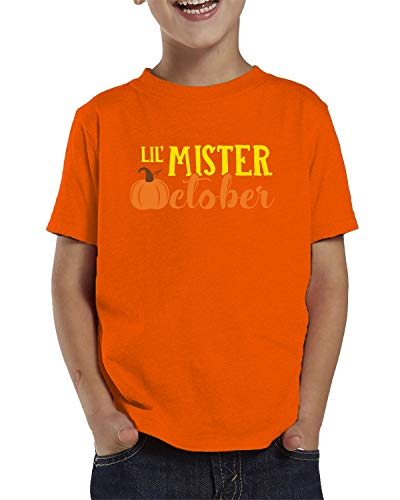 (SpiritForged Apparel Lil' Mister October Toddler T-Shirt, Orange)
