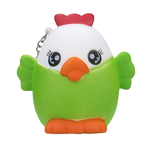 Makeupstore Cute Stress Reliever Charm Toys,Creative Cute Chick Colored Soft Rubber Squeeze Sound Baby Wash Shower Bath Toys for Kids, Toddlers, Boys and Girls DIY ()