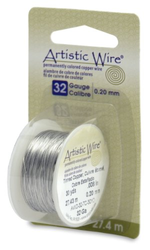 - Beadalon Artistic, 32 Gauge, Tinned Copper, 30 yd (27.3 m) Craft Wire,