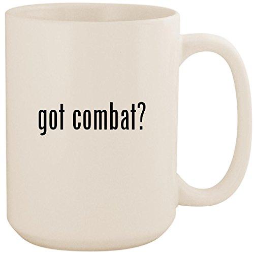 got combat? - White 15oz Ceramic Coffee Mug Cup (Best Modern Combat Flight Simulator)