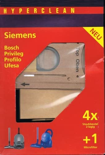 Hyper Clean bolsas para aspiradoras Siemens Smily vs01g00 de vs01g99, Bosch Arriva BSG 100 – BSG 1999 tipo K: Amazon.es: Hogar