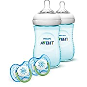 Philips Avent Natural Baby Bottle Gift Set, Teal