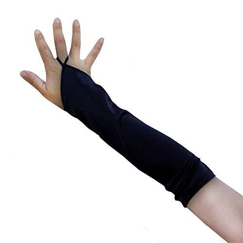 SACAS (Adult Short Fingerless Black Gloves)
