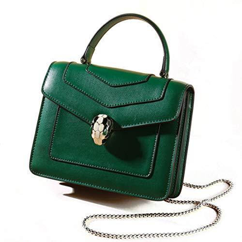 Kervinzhang Señoras Diagonal Head color White Tote Handbag Pequeña Snake Bolso La Green Mujer Hombro Commuter Bolsa Cuadrada De rrfSqRpdw